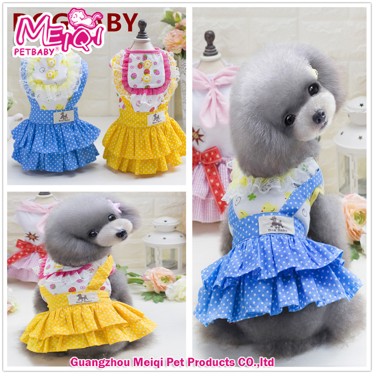 Small Puppy Colorful Dog Clothes Pet Cute Dress Pet Dog Apparel Wholesale