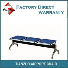 Y-003S Tianzuo Metal Airport Public 3-seater Bench Seat With Soft Seat Cushion