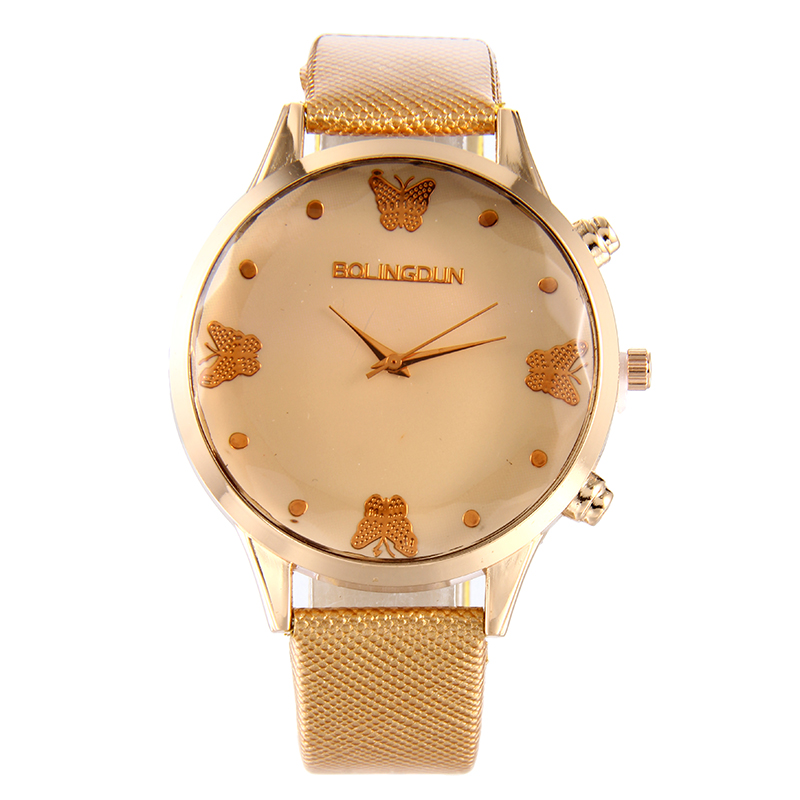 5157 Fashion Butterfly Women Leather Watch Big Dial Watches Lady Casual Quartz Wristwatch Gift classic wrist watch