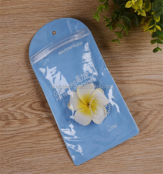 Custom Printed Plastic PVC Waterproof USB Cable Bag With Zipper