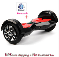 Wholesale and retial 8 inch two wheel self balance scooter with bluetooch/remote/Led light