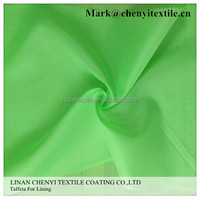 High quality 100 poly dyed plain taffeta