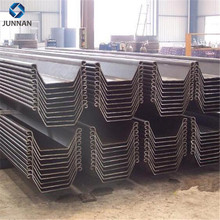 High quality U Shape Hot Rolled Steel Sheet Pile for Embankment