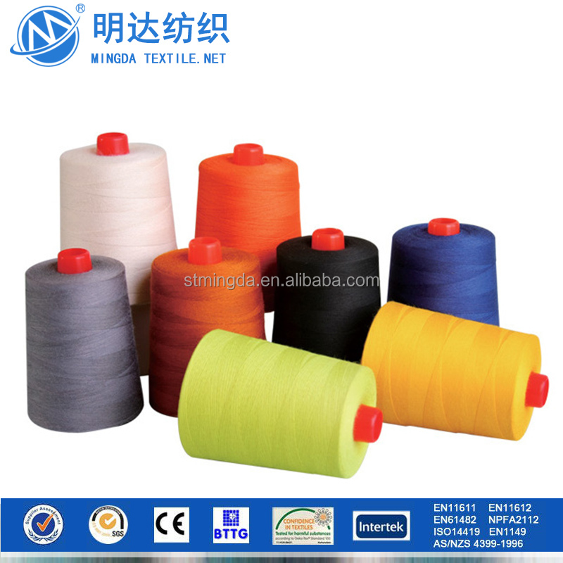 Aramid wholesale colorful long fibers 100% flame retardant aramid sewing thread for sewing work gloves