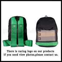 Racing Harness Backpack JDM Racing Backpack Travel Bags The Large Capacity School Backpack Harness Green Bottom