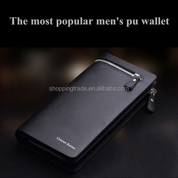 High capacity Curewe Kerien men's pu leather wallet