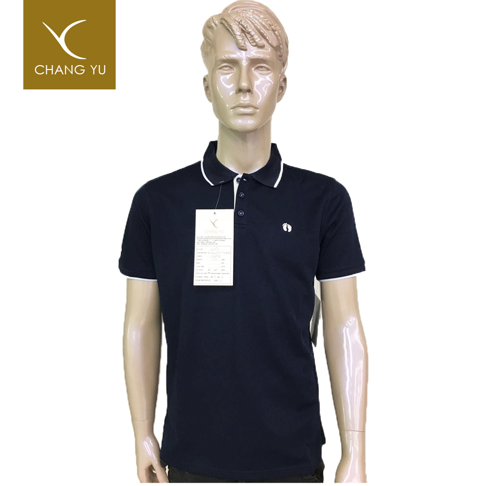 OEM men clothing 210g polyester brand polo golf t-shirt-dry fit
