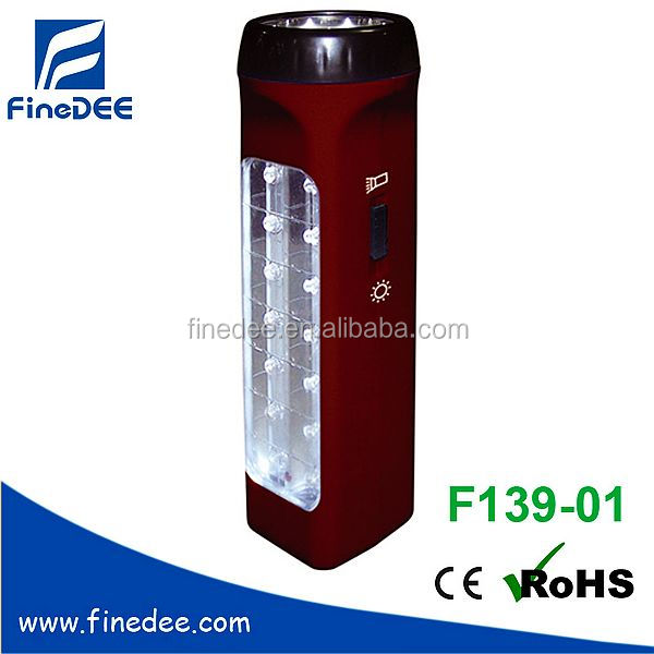 Rechargeable LED outdoor Emergency light with Flashlight