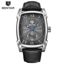 BENYAR 5114M In Stock Buy Watches Online Black Leather Chrono Wristwatch Men Date Next Day Delivery Designer Watches For Men