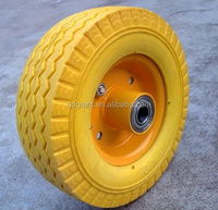 "small flat free tire 6""x2"" PU foam wheel for baby cart"