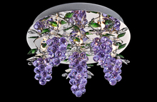Newest LED ceiling lamp with unique grape crystal in purple