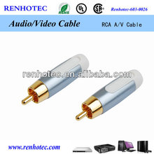 microphone connector rca plug video av rca cable connector