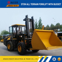 5ton CPCY50-3 all terrain forklift with bucket, ATV, All-terrain vehicle