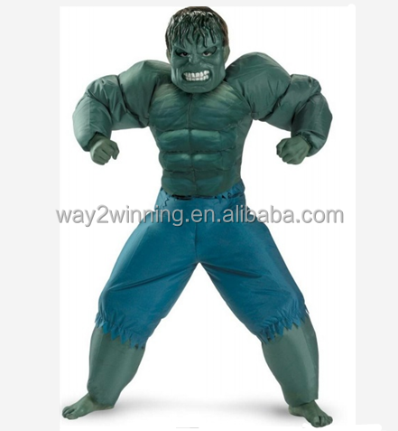 Inflatable incredible hulk halloween costumes for adult & adult incredible hulk costume_Yuanwenjun.com