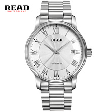 Read 8040 Fashion Filled Steel Rose Gold Black Face Automatic Relogio Masculine Man 50 Meter Waterproof Watches