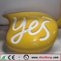 Outdoor customized acrylic vaccum forming letters light box board for advertising
