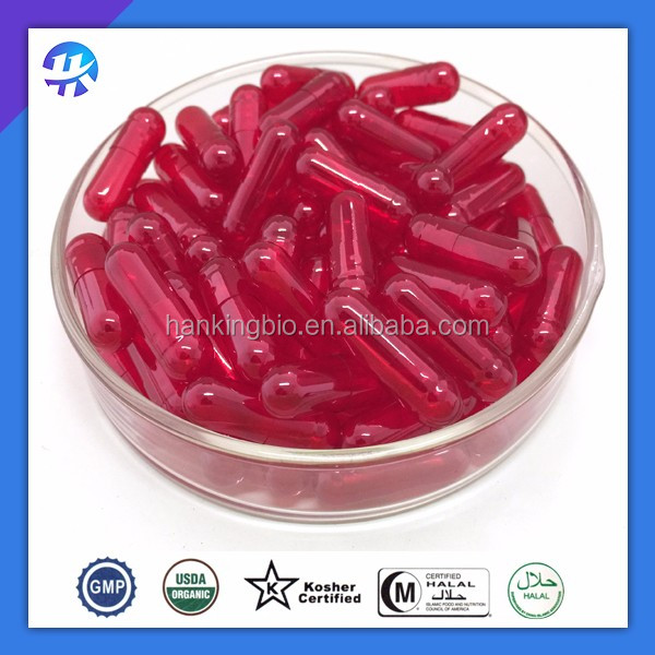 Size 00, 0, 1, 2, 3, 4 Pharmaceutical GMP Certified HPMC Capsules with oem prints and different colours