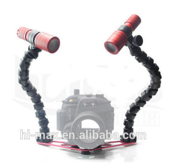 Triple Clamps Underwater Camera Photographing Diving Light Mount lighted serving tray