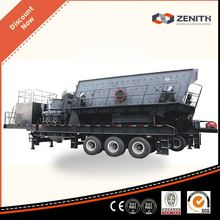 New design used mobile crushing and screening plant