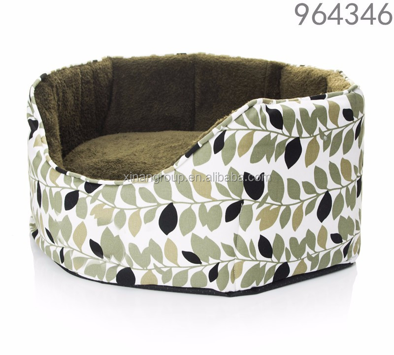ODM stuffed warm soft luxury pet dog bed wholesale