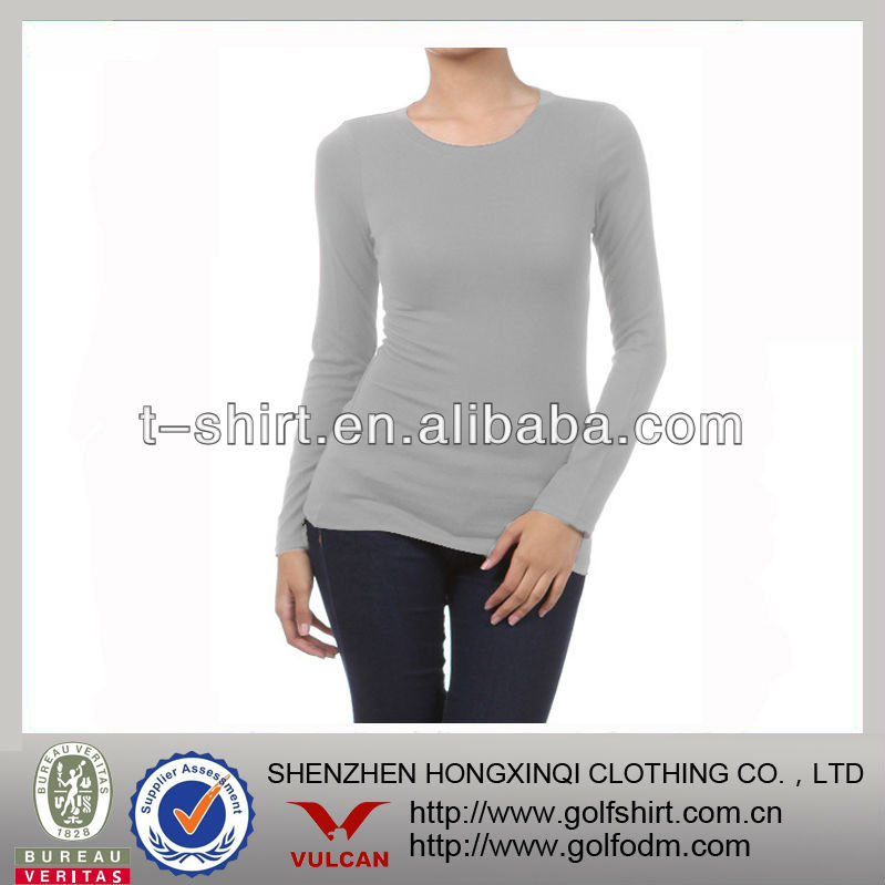 Natural Model Spandex Fitted Blank t shirt for Women