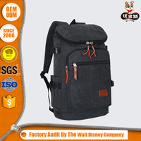 unique canvas backpack bag with rucksack logo and OEM design for male