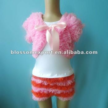 Princess baby ruffle shawls with shirts