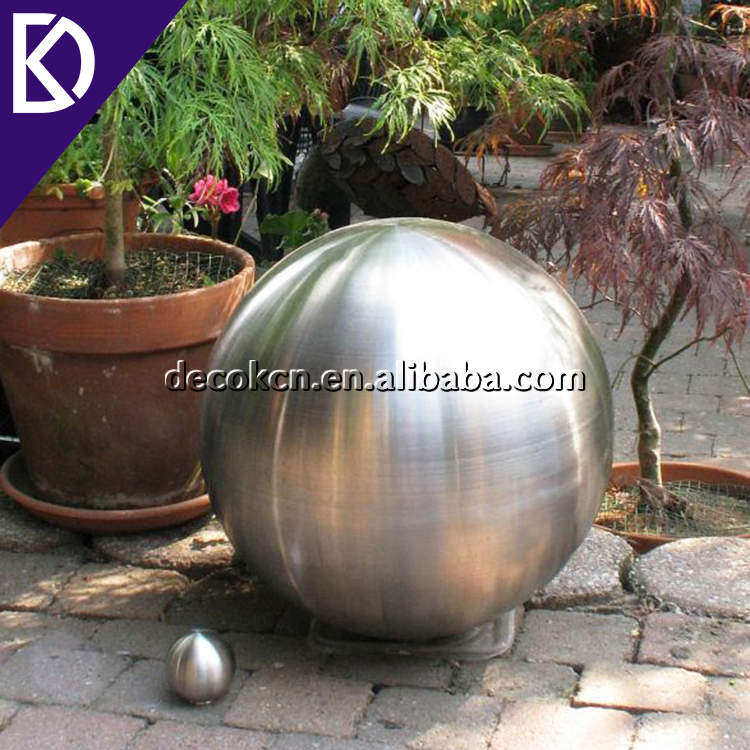 "Custom 6"" 8"" 10"" 12"" matte wholesale stainless steel victorian gazing ball for yard decoration"