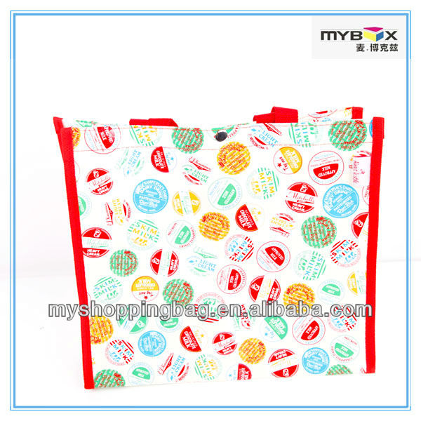 Recycled pp woven bag folding shopping bags making machines