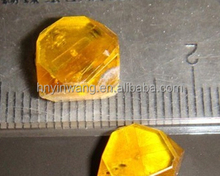 1.0mm--5.6mm Yellow Big Size HPHT Rough/ Uncut/ Single Crystal Synthetic Diamond