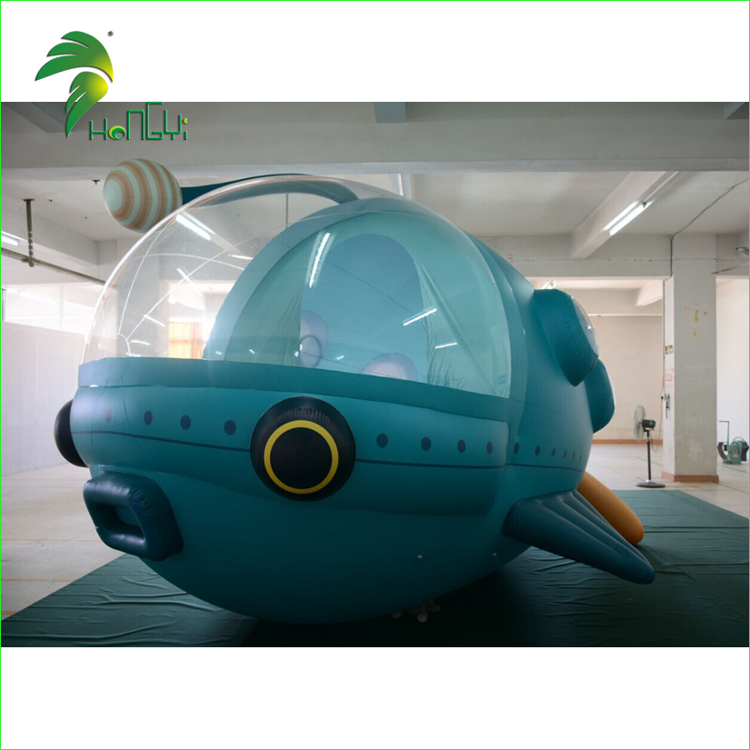 Customized logo Inflatable Flying PVC Blimp , Inflatable Airship Balloon