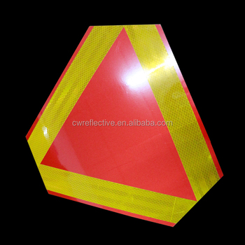high visibility reflective road traffic sign, traffic signal for safety