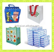 pp woven shopping bag with laminated