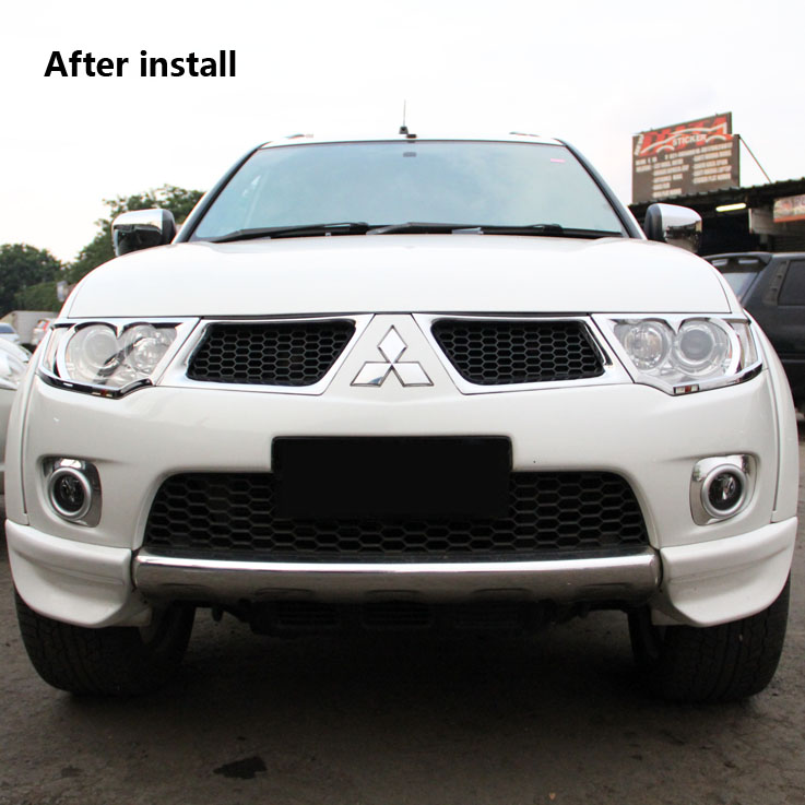 mitsubishi pajero montero sport accessories chrome plastic custom car front grill