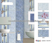 Blue White Bathroom 3D wall Tiles