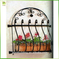 Decorative and security wrought iron grill for windows