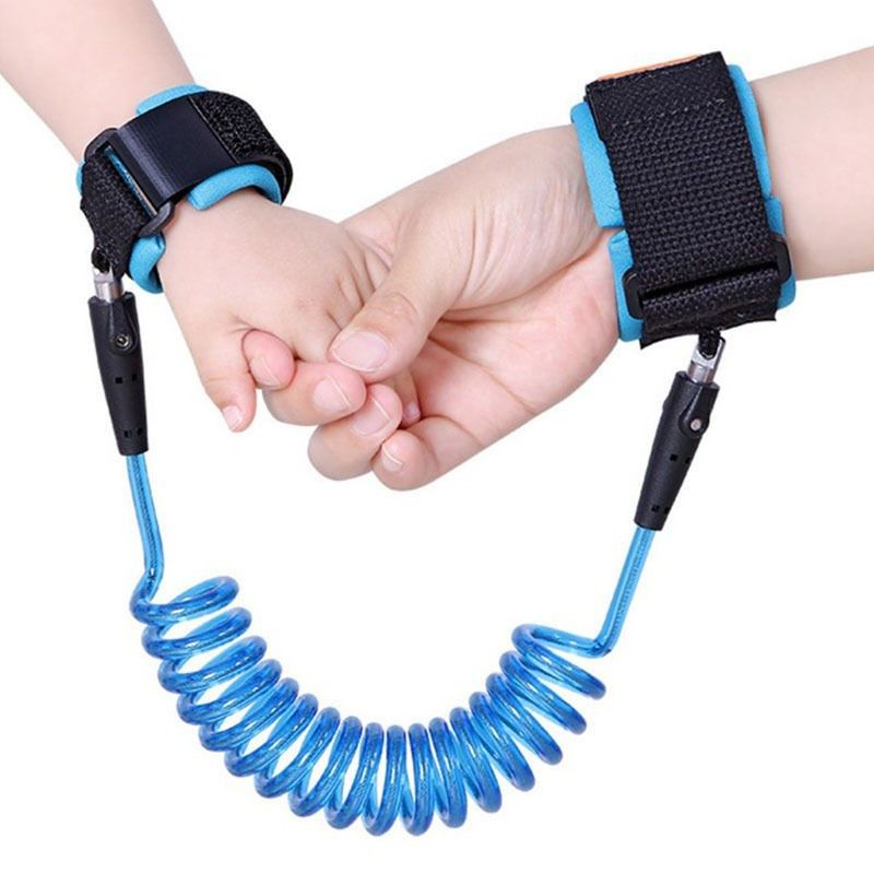 1.5m 2.5m Adjustable Kids Safety Anti-lost Wrist Link Band Children Braclet Wristband Baby Toddler Harness Leash Strap