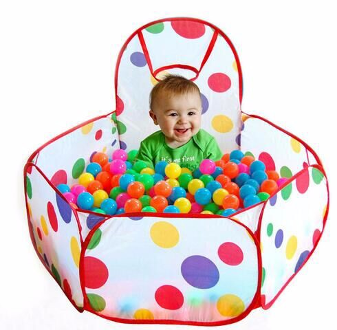 Kids Ball Pit Baby Tent Includes 100 BPA Free, Play Balls for Toddler