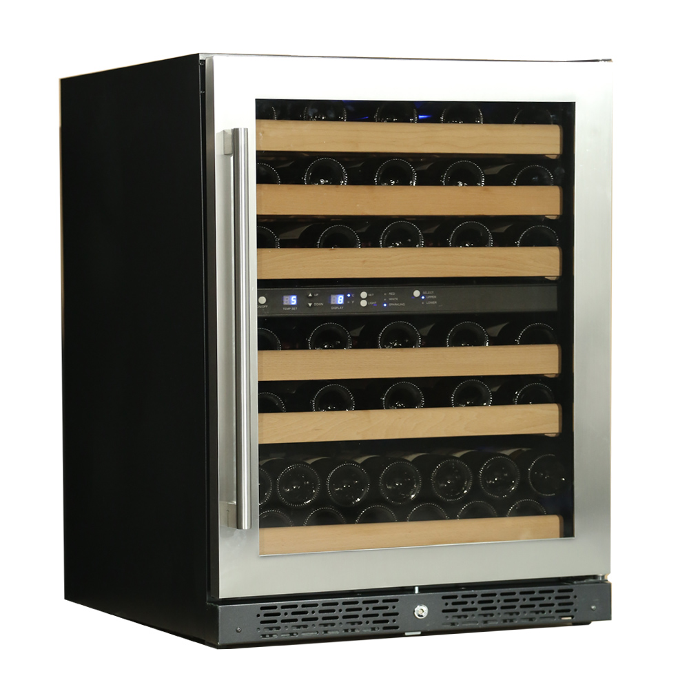 built in dual zone wine cooler refrigerator/wine refrigerator
