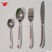 Elegant 38pcs 201 stainless steel silver plated cutlery / kitchen cutlery / German cutlery in stand