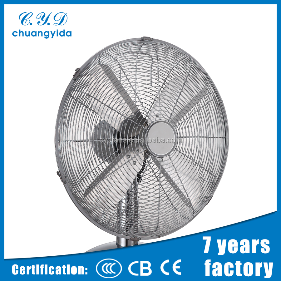 New style metal 3 speeds powerful air flow safety spiral table fan
