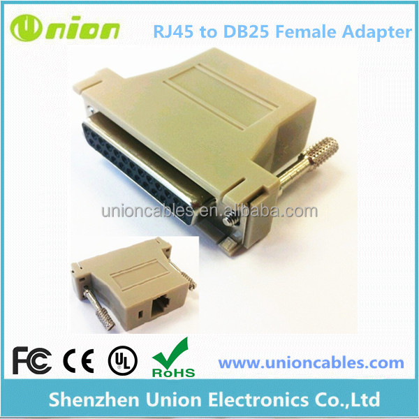 DB25 female to RJ45 CAT5 JACK Network Connector Modular Adapter