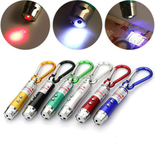 Wholesale Gift Portable Small Key Functional LED Light Laser Pointer With Three Colors Light Option
