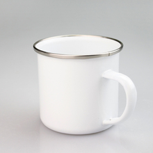 11oz white blank sublimation mug enamel logo custom gift mug metal white mug for sublimation