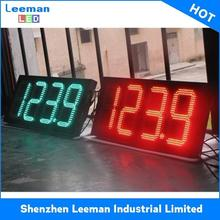 led oil signage/ oil signage LEEMAN RGB 7 segment led display for countdown timer