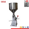 A03 small scale manual glass bottle filling machine