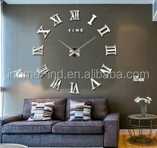 100CM 3D DIY Large Wall Clocks Mirror Wall Sticker Clock Decoration Art Watch