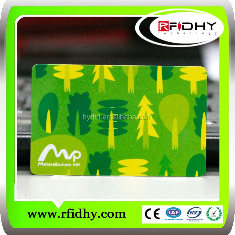 Slot Punched Employee rfid em4100 card