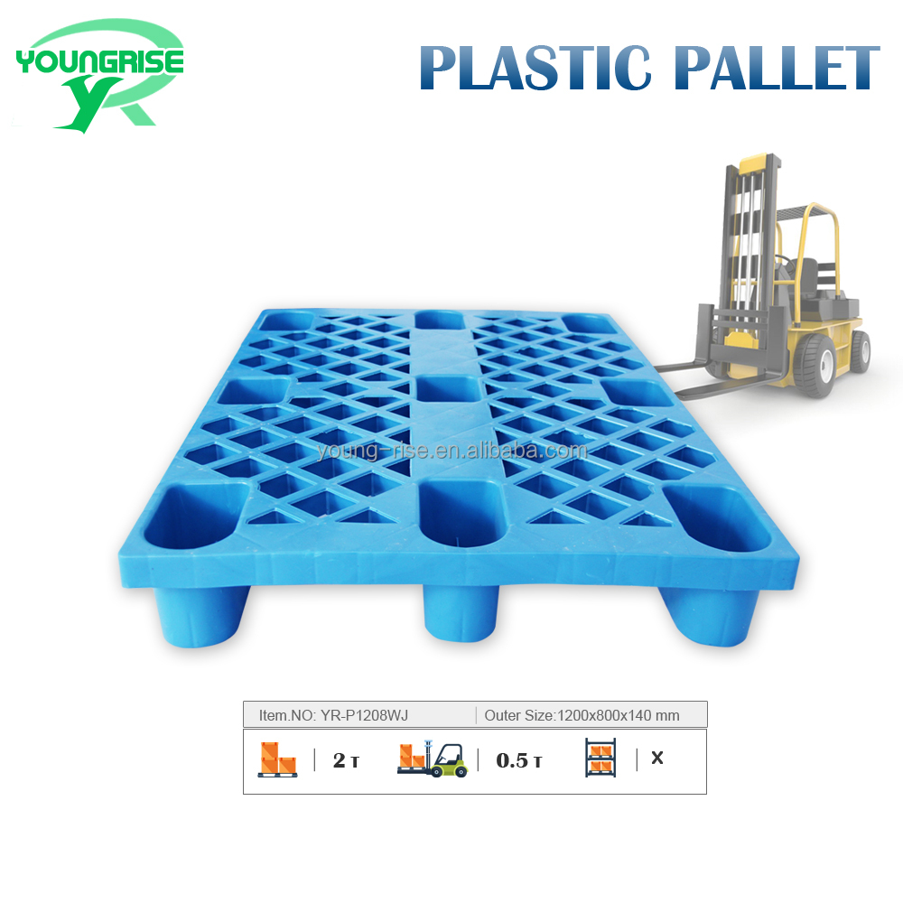 Warehouse Heavy Load 2 T Standard Size Pallet Plastic Euro Pallet for Sale