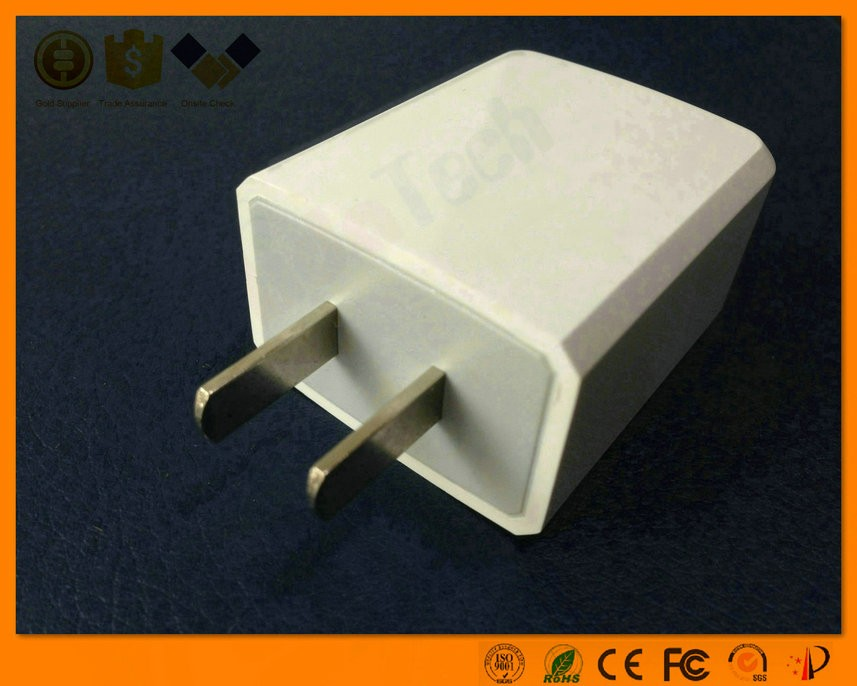 Hot selling portable super speed 1 port 5v 2.4a us plug adapter usb travel charger for smartphone